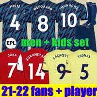 Arsenal Fans Player versão 424 Camisa de futebol Arsen 20 21 22 artilheiros ODEGAARD THOMAS PEPE SAKA TIERNEY HENRY WILLIAN SMITH ROWE 2021 2022 Camisa de futebol infantil uniforme
