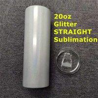 Прямой оптом! Tumbler 20oz Сублимационный блеск с точечной соломой теплопередачи чашки двойной изоляции из нержавеющей стали бутылки из нержавеющей стали A12