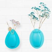 Magic Silicone Vase Sticky Vase Fleur Plante murale Plancher Bouteille de conteneur Stockage DIY Accueil Décoration facile des vases amovibles