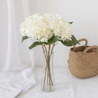 Decorative Flowers & Wreaths Artificial High Quality Silk Fake Hydrangea Vase For Home Outdoor Garden Decoration Wedding Bridal Accessories