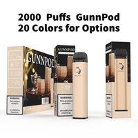 E Cigarettes Gunnpod Puff Plus Vape Pen 2000 Puffs Bar Disposable Kit 8.0ml Prefiled Pods 1250mAh Battery Portable Vaporizer Vapes Device PK Air Pro Max XXL