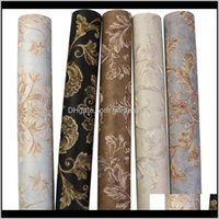 Wallpapers Décor & Gardeckground Tv 3D Textile Nonwoven Home European Luxury Bedroom Living Room Wallpaper Bedroom1 Drop Delivery 2021 2Scyl