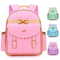 School Bags Korean Version of The Bow Princess Waterproof Schoolbag Cartoon Cute Bagpack Kids Backpack Shoulder Space Bag