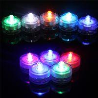 led 차 빛 IP65 방수 꽃 라운드 멀티 컬러 잠수정 조명 웨딩 파티 축제 장식 0.06W에 대 한 촛불 램프