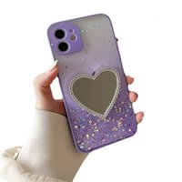 Makeup Mirror Phone Cases For Iphone 13 11 12 Pro Max Xr Xs Luxury Women Glitter Bling Protective Cover Lens All Inclusive Drop Proof Shockproof