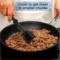 Handmatige vleesmolens, non-stick, hittebestendig nylon chopper-gebruiksvoorwerp, mengkraan voor hamburger en gemalen rundvlees 1849 v2