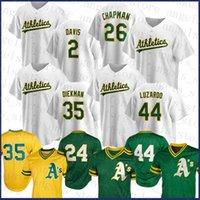 Oakland Custom Athletics 2 Хрису Дэвис Бейсбол Джерси 26 Мэтт Чапман 24 Рикки Хендерсон 35 Джейк Дейкман 44 Иисус Лузардо 28 Мэтт Олсон
