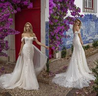 Gorgeous Mermaid Wedding Dresses With Detachable Skirt Lace Appliqued Plus Size Dress Bridal Gowns Custom Made Robes De Mariée