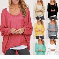 Women Ladies New Oversized Loose Long Sleeve T Shirt Blouse Baggy irregular Tops Jumper