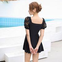 Bikini 2021 Ins Style Swimsuit Women's One Piece Skirt Slim Cover Belly Conservative Spring Beach Resort ROMW