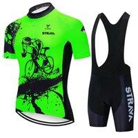 2021 برو الدراجات جيرسي مجموعة سترافا الصيف روبا ciclismo الدراجة الجبلية الملابس تنفس مان دراجة الملابس جيرسي الرياضية
