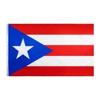 New90x150 سنتيمتر بويرتو ريكو العلم الوطني شنقا أعلام لافتات البوليستر بويرتو ريكو العلم راية في الهواء الطلق داخلي العلم كبير الديكور EWE7615