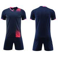 2021 Royal Blue Soccer Sets Football Shirt Men's Y Women's Adult Training Traje Light Board Personality Funda de manga corta para niños Jersey