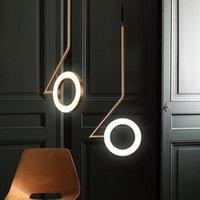 Nordic Pendelleuchte Schlafzimmer Schlafzimmer Restaurant Kronleuchter Beleuchtung Moderne Luminaria Bar Messing Kreative LED Designer Lampen110V`260V