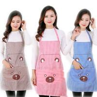 Collo sospeso Versione coreana Stampato Bear Cooking Cucina Cucina Lovely Grembiule 730 V2
