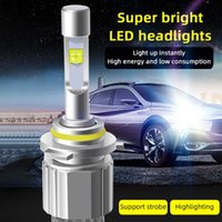 Car Headlights 2PCS 80W CREE XHP-50 Chip LED Headlight High Low Beam Bulbs Super White 6000K Conversion Lamp Kit Drop