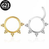 f136 Titanium Nose Ring Woman Ball Lip Earrings Clicker Hoop Septum Piercing Hinged Segment Helix Ear Cartilage Tragus