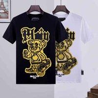 Бренд футболка филипс Philip Paint Men Designer PP череп алмазная футболка с коротким рукавом доллар коричневый медведь бренд O-шеи высокий Quali