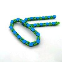 Wacky Tracks Snap Fidget Toys Puzzles Snake Click Sensory Toy Stocking Stuffer für Kinder Erwachsene Fokus EEB5776