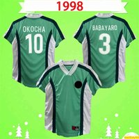 Copa do Mundo 1998 Retro Jersey Jersey Camisa Clássica Camisa Clássica Okocha Kanu Babayaro Uche West Iheanacho Vintage Uniformes