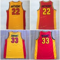 Oak Hill High School Jerseys Homme Basketball Sport Carmelo 22 Anthony Kevin 33 Jersey Durant respirant toute la qualité supérieure cousue en vente