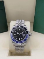 Мужские автоматические часы Полная нержавеющая сталь Юбилейный браслет Мужские 40 мм Механические наручные часы с оригинальной складной пряжки Часы спортивные мужские наручные часы