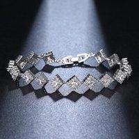 Charm Bracelets ORZTOON Vintage Square Zircon Chain For Women Fashion Shine Silver Color Wrap Bracelet Trendy Female Wedding Jewelry