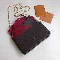 Borse da borse da borse da borse da borsette di lusso Borse da sera da donna 3 in 1 borse a tracolla scatola regalo confezione