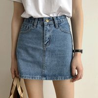 High Tail All-round Slim Blue Mini Smoking Fashion Summer Women Casual Bags Classic Harajuku Katoen Streetwear Denim Rok