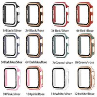 Watch Case Screen Protector PC 360 Full Bumper Frame Matte Hard Cases Apple iWatch Series 6 5 4 3 SE 38MM 42MM 44MM 40MM Protective Cover Without box