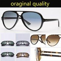 أعلى جودة 4125 النظارات الشمسية الرجال النساء الرجعية نظارات الشمس النايلون الإطار G15 العدسات الحزم الأصلية القط تصميم