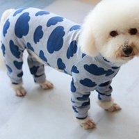 ПЭТ собака комбинезон тонкий щенок одеждает хлопок с длинным рукавом комбинезон для маленьких собак Pajamas открытая толстовка чихуахуа