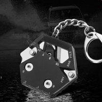 Catena chiave multifunzione, kit esagonale pieghevole-micro driver a vite, apribottiglie, utensili EDC taglierina per campeggio Strumenti di sopravvivenza OWF7465