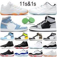 Nike Air Jordan 1 11 erkekler kadınlar koşu ayakkabıları erkek eğitmenler Üçlü Siyah Beyaz Kırmızı Dünya Çapında Oreo Nefes moda bayan spor ayakkabı Boyut 36-46