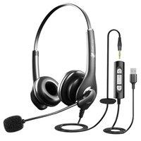سماعة الكمبيوتر السلكية السلكية سماعات الرأس مع خدمة العملاء المكتب الهاتف تخفيض الضوضاء ميكروفونيستريو Bluetoothphones