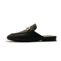 GG oyuncu deri katır, kadın ünlü marka at ayakkabı, moda terlik