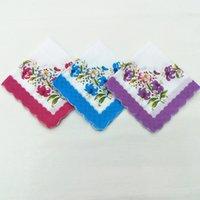 Mendil Renkler Hilal Baskılı Pamuk Çiçek Hankie Çiçek Işlemeli Mendil Renkli Cep Havlu T2I51788