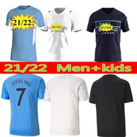 Manchester Fútbol Jersey 20 21 G. Jesús City Sterling Ferran de Bruyne Kun Agüero 2021 Camisetas de fútbol Hombre Uniforme Hombres + Kit Kids