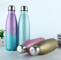 En son 17 oz su şişeleri flaş tozu paslanmaz çelik kola kahve süt fincan, spor yetişkinler ve çocukların favori GWD10879