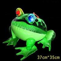 Balões de PVC Inflável rã brilhante com corda elástica saltando o balão de brinquedo de brinquedo infantil