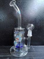 Glass recycler water bong tornado bongs water pipes unique water pipe heady dab rigs hookahs Shisha with nail dome kothy shop