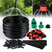Sistema Irrigazione Giardino Giardino Tubo flessibile Kit di irrigazione a goccia con antigelo regolabile Dripper