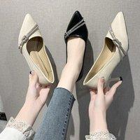 Обувь платье XPAY Женщины Стилетто Высокие каблуки Насосы Направленные Ножим Кристалл Таконы Неглубокий рот Партии для обуви Женщина Офис Повседневная Работа