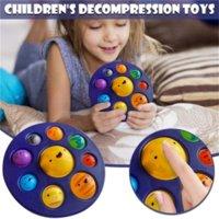 Winni Fidget 장난감 딤플 감각 감압 장난감 시뮬레이션 행성 색상 간단한 조광기 루프 스트레스 불안한 장난감