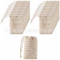 Natural esfoliante malha sabão sabão sisal escovas bolsa bolsa de bolsa para banho de banho espuma e secagem 688 s2