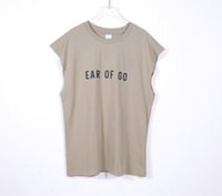 21ss Yaz Rahat T Gömlek Kaykay İşbirliği Yelek Erkekler Kadın Nakış Logosu Kolsuz Streetwear Sportwear Yüksek Sokak Boy Tee