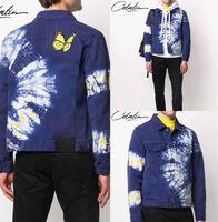 Hommes Printemps Designer Palm Jeans Vestes Cowboy Papillon Manteaux PLAM AUTOMN THIN DIFIM Shirt Mens manches longues Tieye Couture Retro Slim Casual Veste
