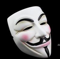 Blanco v máscara masquerade delineador de ojos halloween máscaras de la cara de halloween Party Props VENDETTA Anonymous Movie Guy Sea Barra de mar HWA7067