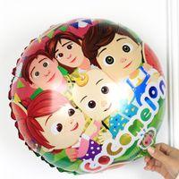 18 pollici Cocomelon Balloon Bambini Cartoon Fumetto Pellicola in alluminio Palloni Palloni Palloncini Doppia Sideed Stampa Anguria Ji Compleanno Party Decoration Ball G31805