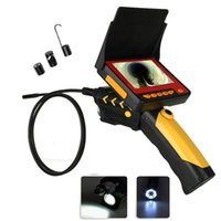 1M CCTV Inspección Tubería de serpiente Serpiente Negro 4.3 pulgadas Endoscopio AV Micro Mini Boroscopio Cámaras Impermeable IP